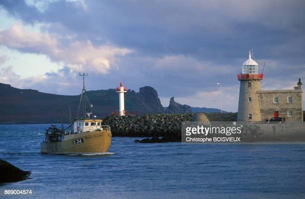 Vue du port de Howth pres de Dublin en Irlande