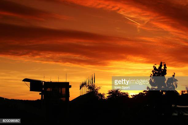 Vue generale Roland Garros coucher de soleil Roland Garros 2005