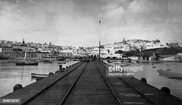 Vue générale de Tanger Maroc circa 1940