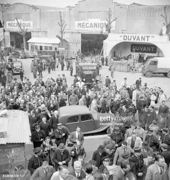 Vue générale partielle lors de l'inauguration de la Foire de Paris à la Porte de Versailles à Paris France en 1946