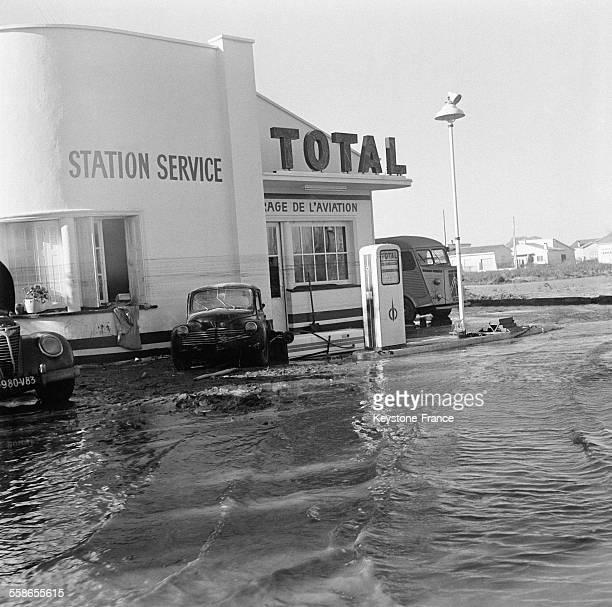 Vue partielle après la terrible catastrophe provoquée par la rupture du barrage de Malpasset à Fréjus France le 5 décembre 1959