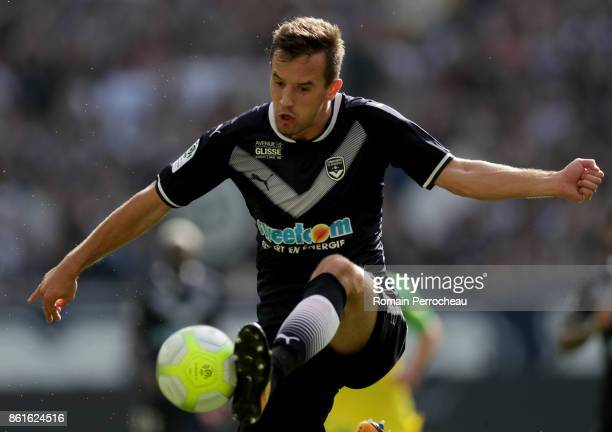 Vukasin Jovanovic of Bordeaux in action during the Ligue 1 match between FC Girondins de Bordeaux and FC Nantes at Stade Matmut Atlantique on October...