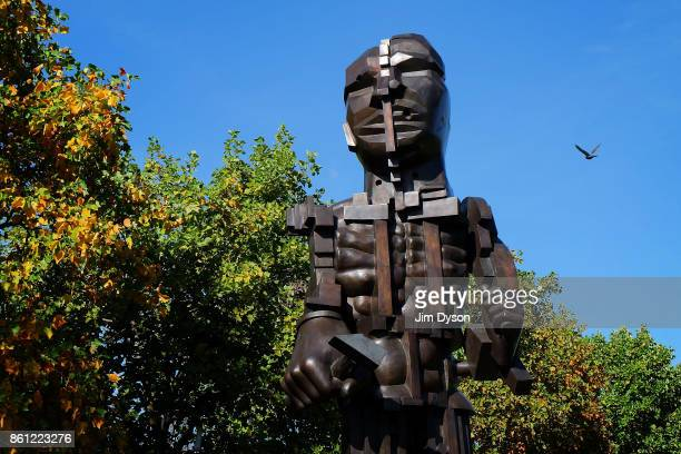 'Vulcan' 1999 by Eduardo Paolozzi during the Frieze Sculpture Fair in the Regents Park English Gardens as part of Frieze London on October 6 2017 in...