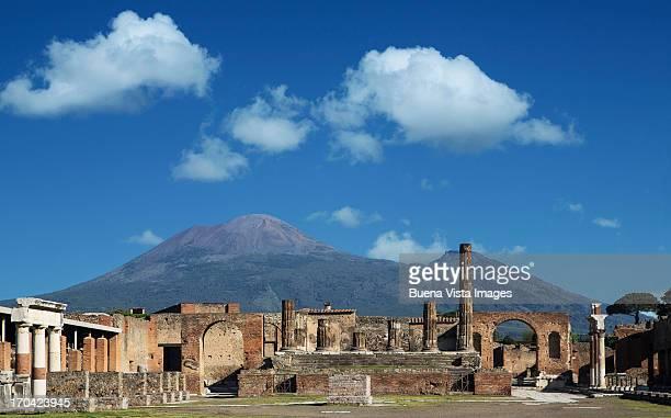 Vulcan Vesuvio and Pompei ruins, the Forum