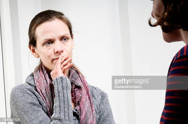 Vulnerable Young Woman In a Counselling Session