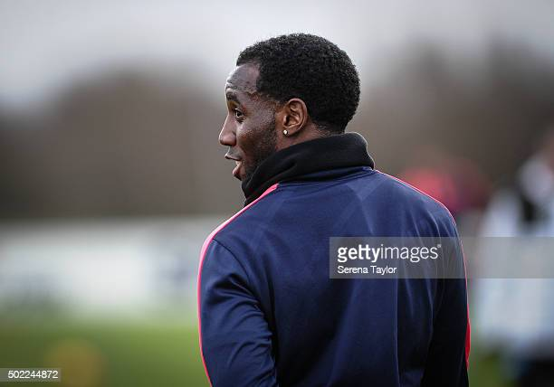 Vurnon Anita during the Newcastle United Training session at The Newcastle United Training Centre on December 22 in Newcastle upon Tyne England