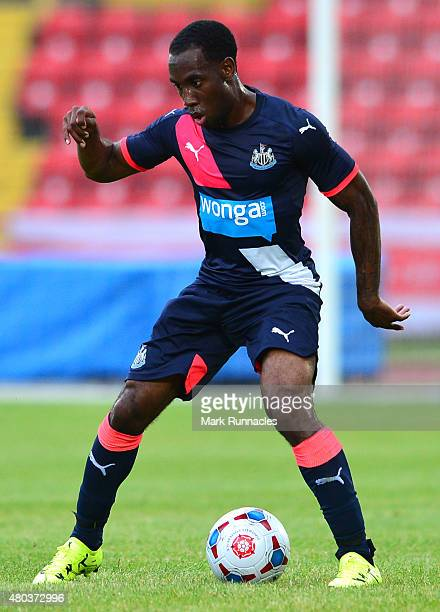 Vurnon Anita of Newcastle in action during the pre season friendly between Gateshead and Newcastle United at Gateshead International Stadium on July...