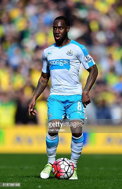 Vurnon Anita of Newcastle United controls the ball during the Barclays Premier League match between Norwich City and Newcastle United at Carrow Road...