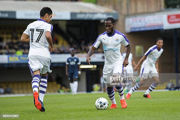 Vurnon Anita of Newcastle United controls the ball during the Pre Season Friendly match between Southend United and Newcastle United at Roots Hall on...