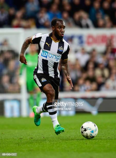 Vurnon Anita of Newcastle United controls the ball during the Sky Bet Championship Match between Newcastle United and Burton Albion at StJames' Park...