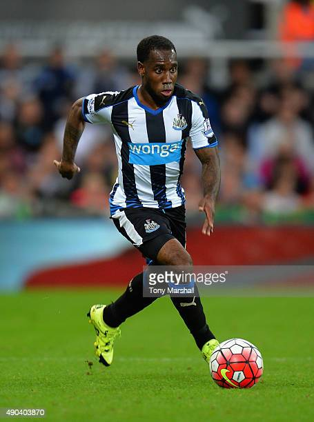 Vurnon Anita of Newcastle United during the Barclays Premier League match between Newcastle United and Chelsea at St James' Park on September 26 2015...