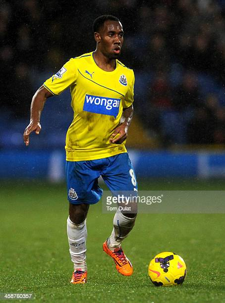 Vurnon Anita of Newcastle United in action during the Barclays Premier League match between Crystal Palace and Newcastle United at Selhurst Park on...