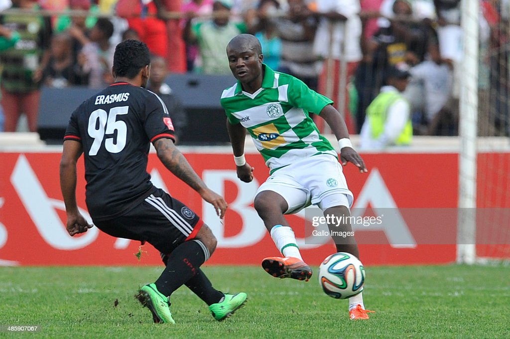 Vuyani Ntanga of Celtics in action during the Absa Premiership match between Bloemfontein Celtic and Orlando Pirates at Free State Stadium on April 21, 2014 in Bloemfontein, South Africa.