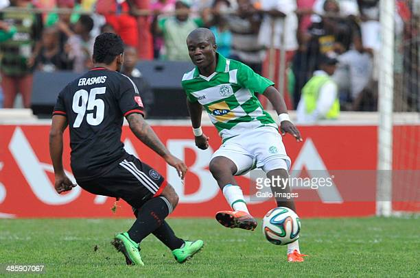 Vuyani Ntanga of Celtics in action during the Absa Premiership match between Bloemfontein Celtic and Orlando Pirates at Free State Stadium on April...