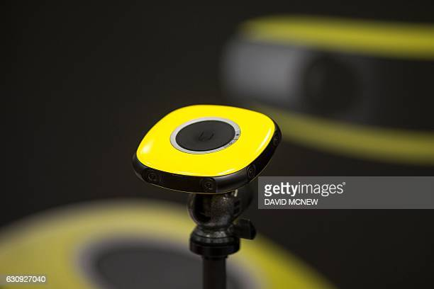 A Vuze 3D 360degree VR camera is shown during the 2017 Consumer Electronics Show in Las Vegas Nevada on January 3 2017 / AFP / DAVID MCNEW