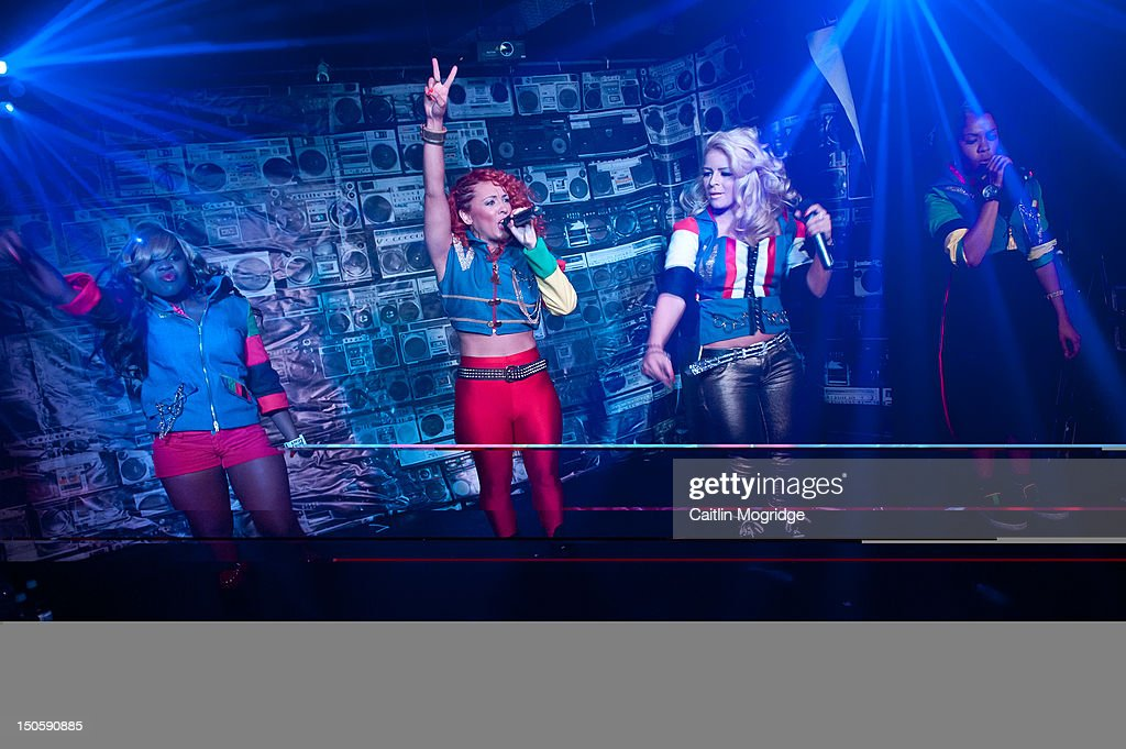 V.Vee, AJ, Jade and Cheekz of Vida perform on stage at Queen Of Hoxton on August 22, 2012 in London, United Kingdom.