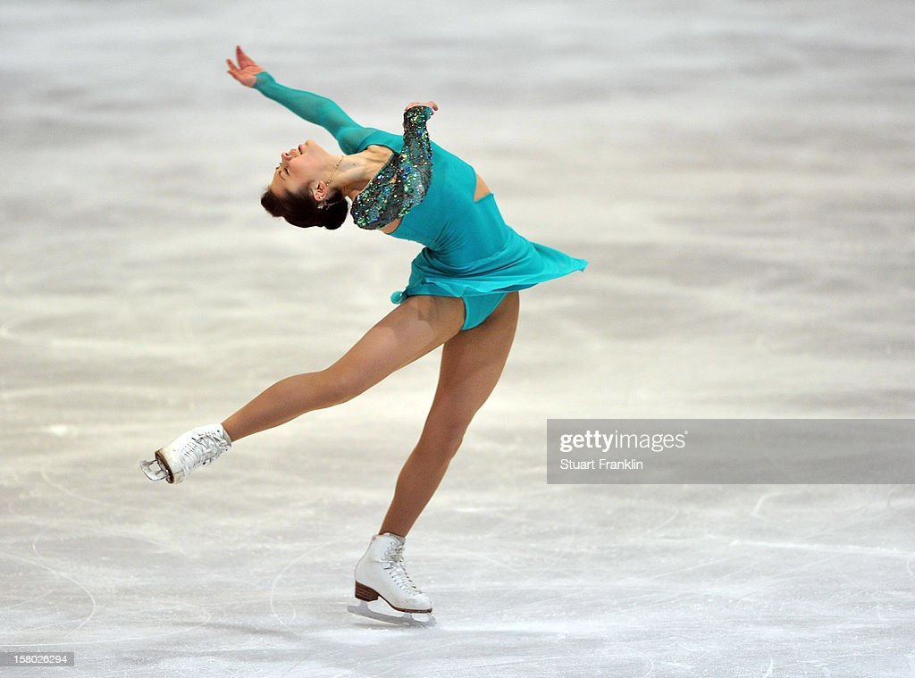 vXenia Makarova of Russia in action during the senior ladies freestyle section of the NRW trophy at Eissportzentrum on December 9, 2012 in Dortmund, Germany.