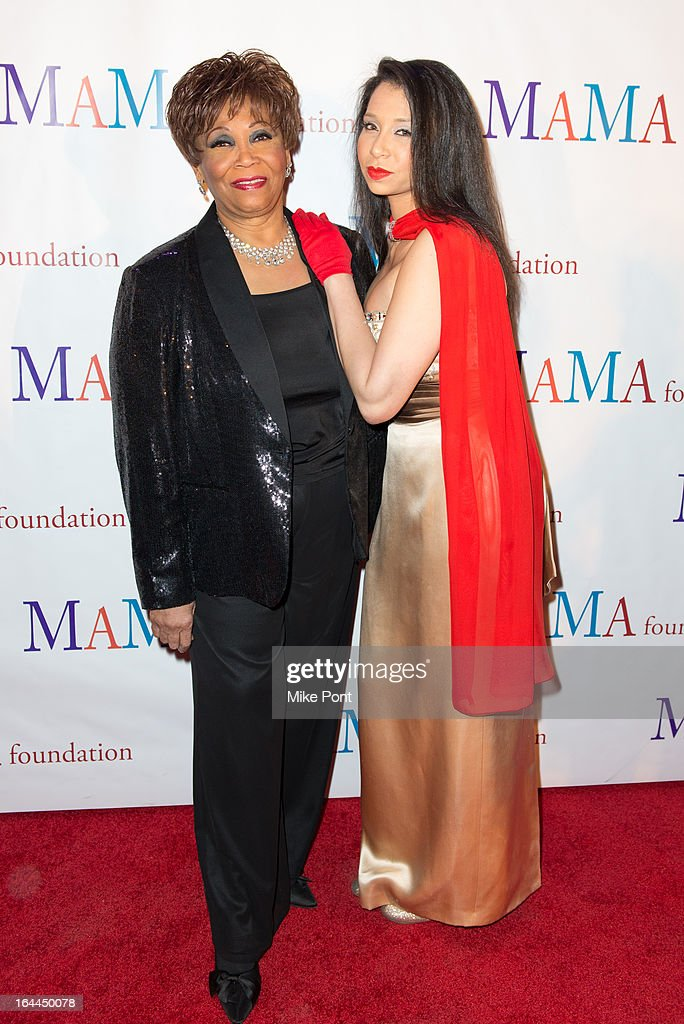 Vy Higginsen and Ahmaya Knoelle Higginson attend 'Mama I Want To Sing' 30th Anniversary Gala Celebration at The Dempsey Theatre on March 23, 2013 in New York City.