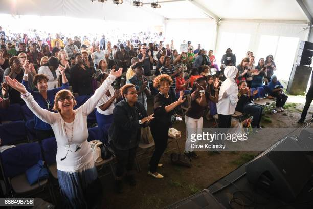 Vy Higginsen's Choir from Harlem performs onstage at Harlem EatUp's Third Annual Festival Weekend on May 21 2017 in New York City