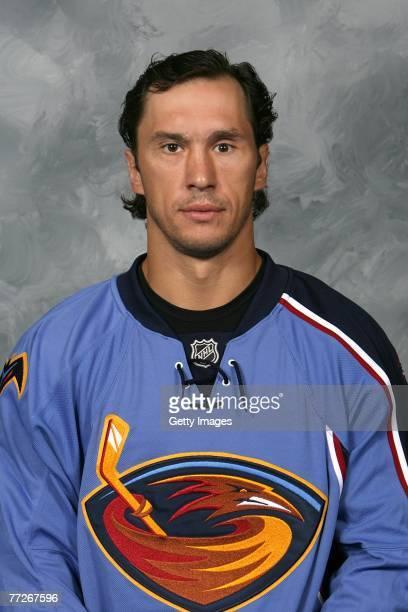 Vyacheslav Kozlov of the Atlanta Thrashers poses for his 2007 NHL headshot at photo day in Atlanta Georgia