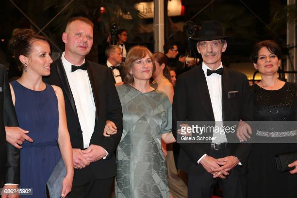 Vyara Borisova Reinhardt Wetrek Valeska Grisebach Meinhard Neumann and Veneta Fragnova attend the 'Western' screening during the 70th annual Cannes...