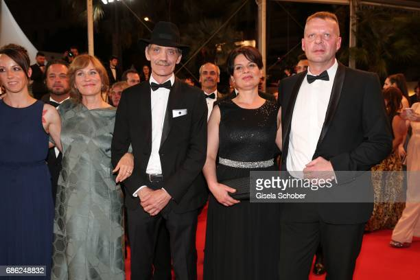 Vyara Borisova Valeska Grisebach Meinhard Neumann Veneta Fragnova Reinhardt Wetrek attend the 'Western' screening during the 70th annual Cannes Film...