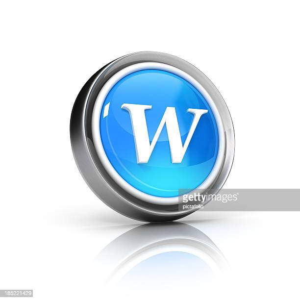 w letter icon