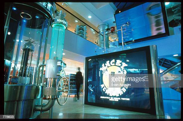 Wacky ACME Labs sign is on display at the Warner Bros Studio store October 23 1996 in New York City The store originally a three floor specialty...