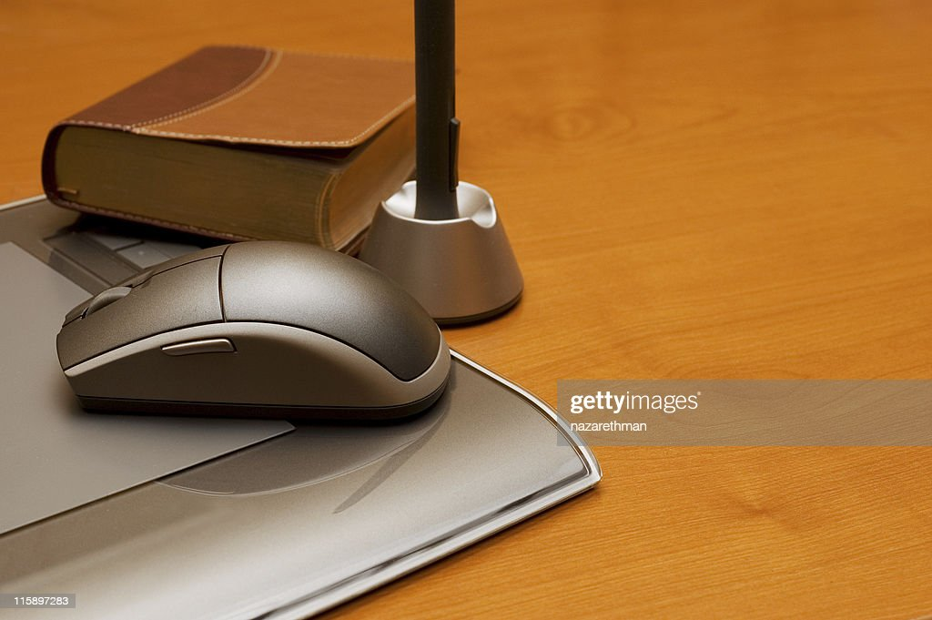 wacom tablet w/ book of ideas : Stock Photo