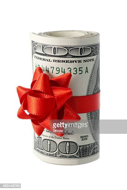 Wad of Cash with Red Bow