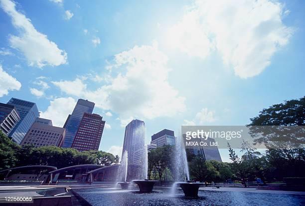 Wadakura Fountain Park, Chiyoda, Tokyo, Japan