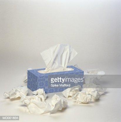 Wadded Tissues around Box