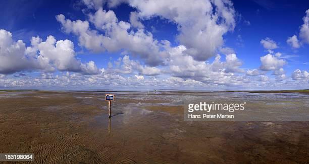 Wadden Sea near Westerhever, North Frisia, Germany