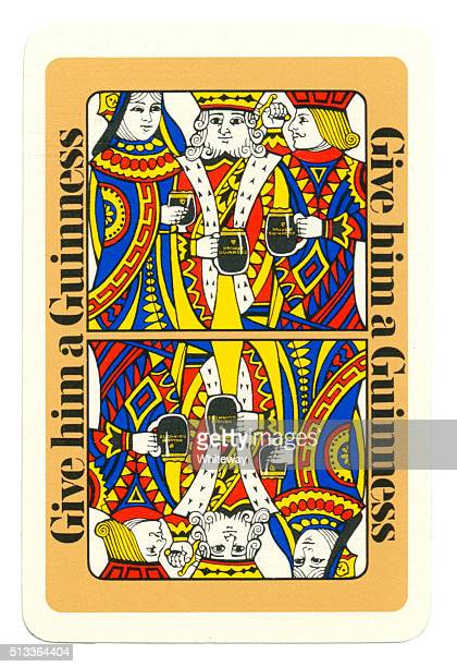 Playing card back alcohol advertising Guinness 1960s