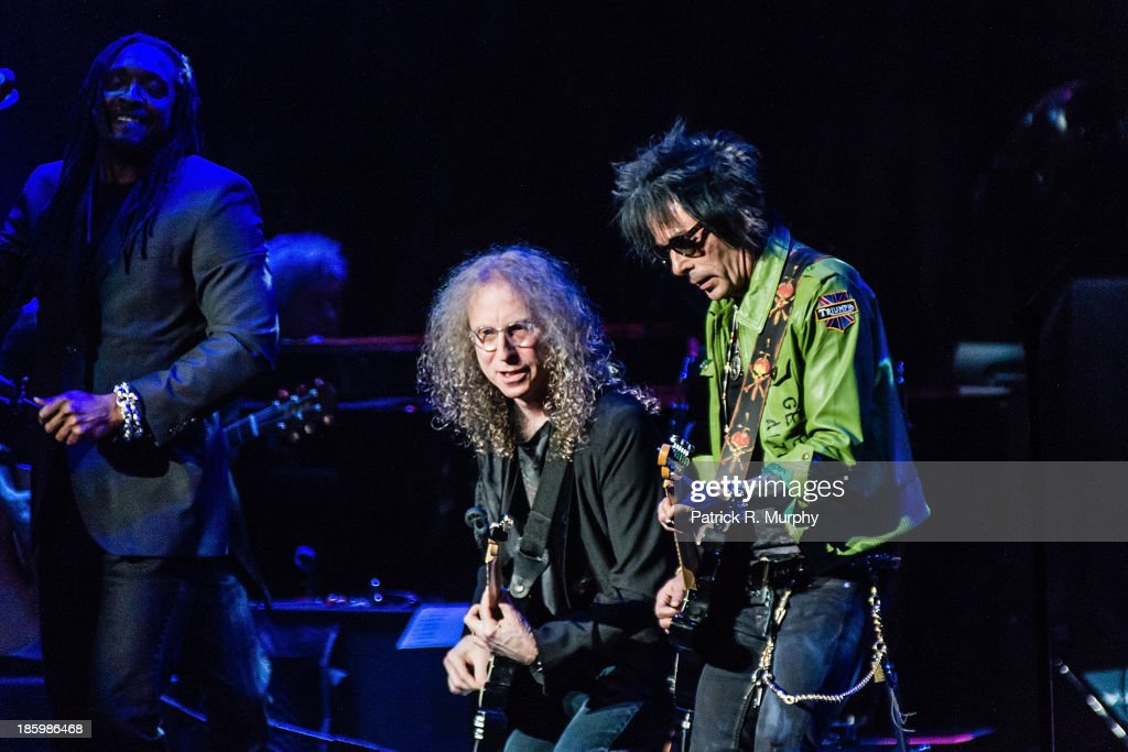 Waddy Wachtel and Earl Slick perform at the 18th annual Music Masters series honoring The Rolling Stones at the State Theatre on October 26, 2013 in Cleveland, Ohio.