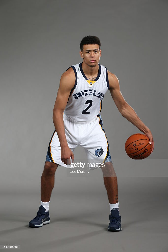 Wade Baldwin IV #2 of the Memphis Grizzlies poses for a portrait on June 24, 2016 at FedExForum in Memphis, Tennessee.