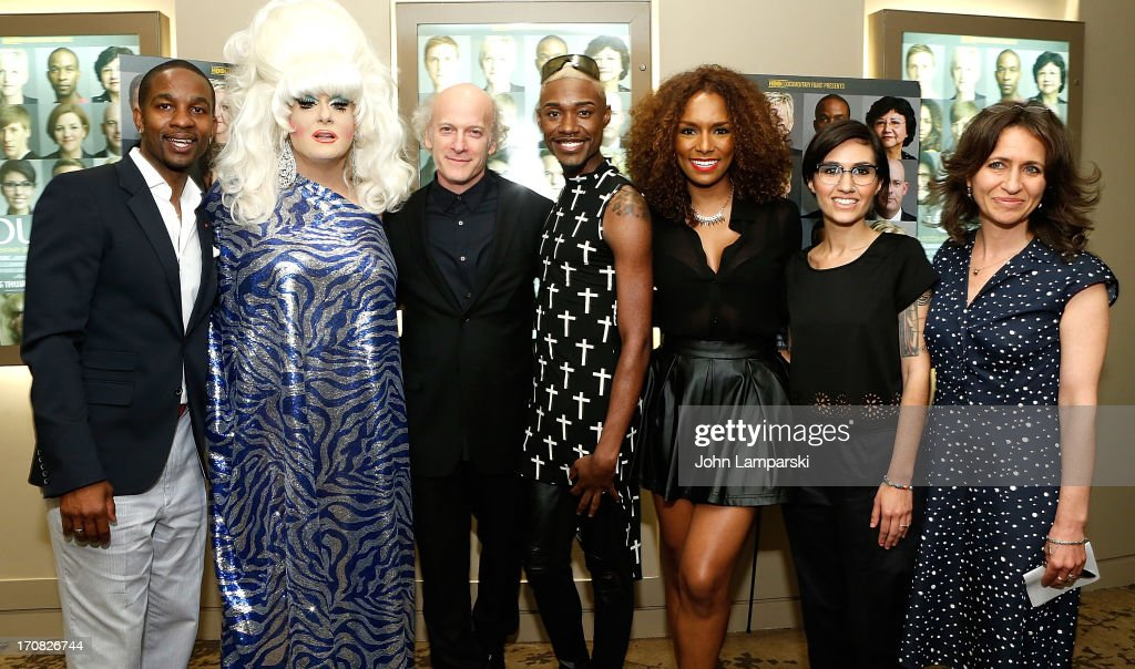 Wade Davis Lady Bunny Timothy GreenfieldSanders Twiggy Pucci Garcon Janet Mock Waznia Zundon and Lisa Heller attends 'The Out List' New York Premiere...