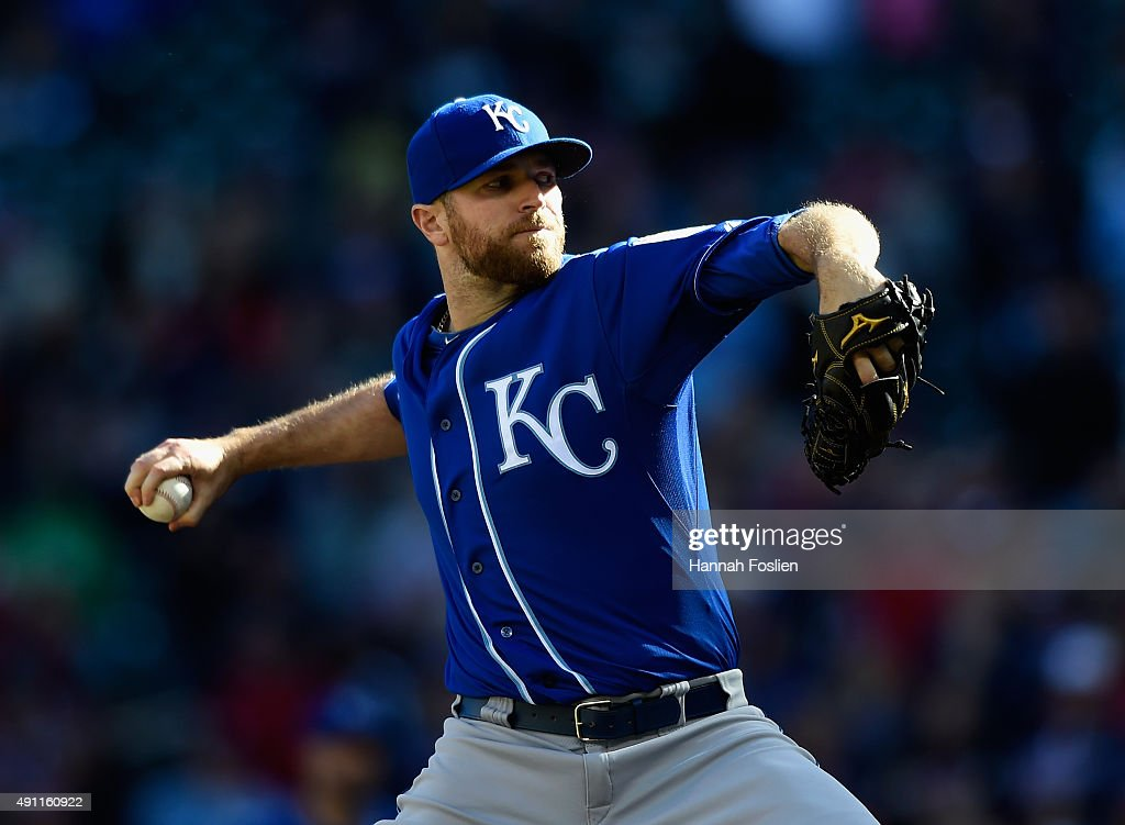 <a gi-track='captionPersonalityLinkClicked' href=/galleries/search?phrase=Wade+Davis+-+Baseball+Player&family=editorial&specificpeople=8202494 ng-click='$event.stopPropagation()'>Wade Davis</a> #17 of the Kansas City Royals delivers a pitch against the Minnesota Twins during the ninth inning of the game on October 3, 2015 at Target Field in Minneapolis, Minnesota. The Royals defeated the Twins 5-1.