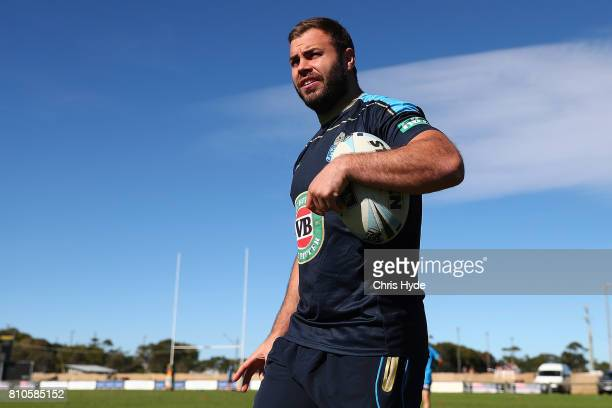Wade Graham during a New South Wales Blues State of Origin Training Session on July 8 2017 in Kingscliff Australia