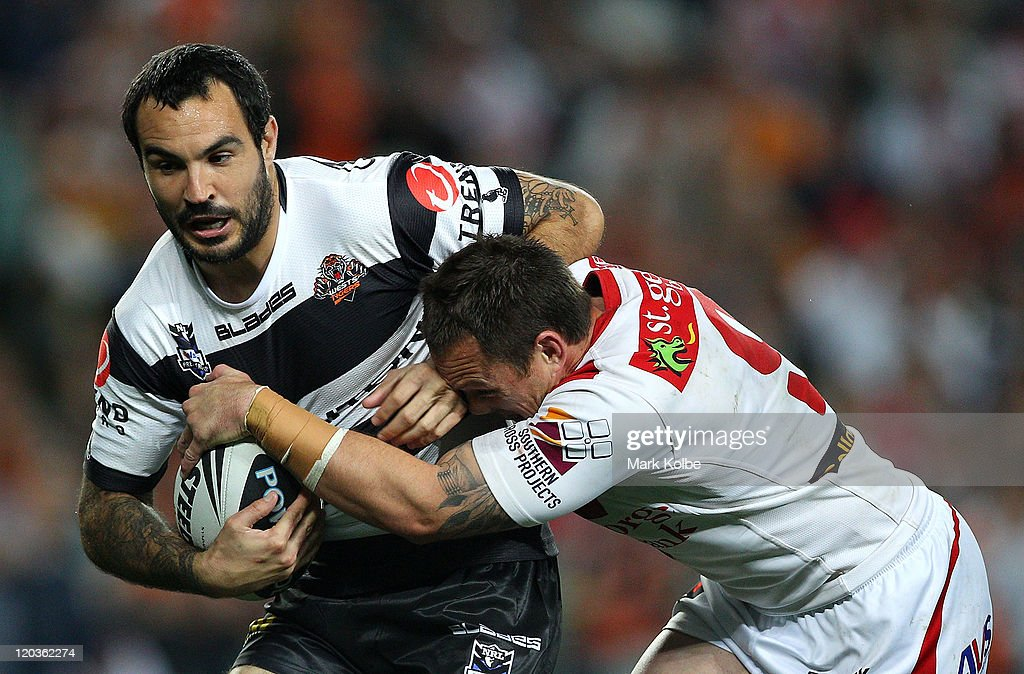 NRL Rd 22 - Tigers v Dragons