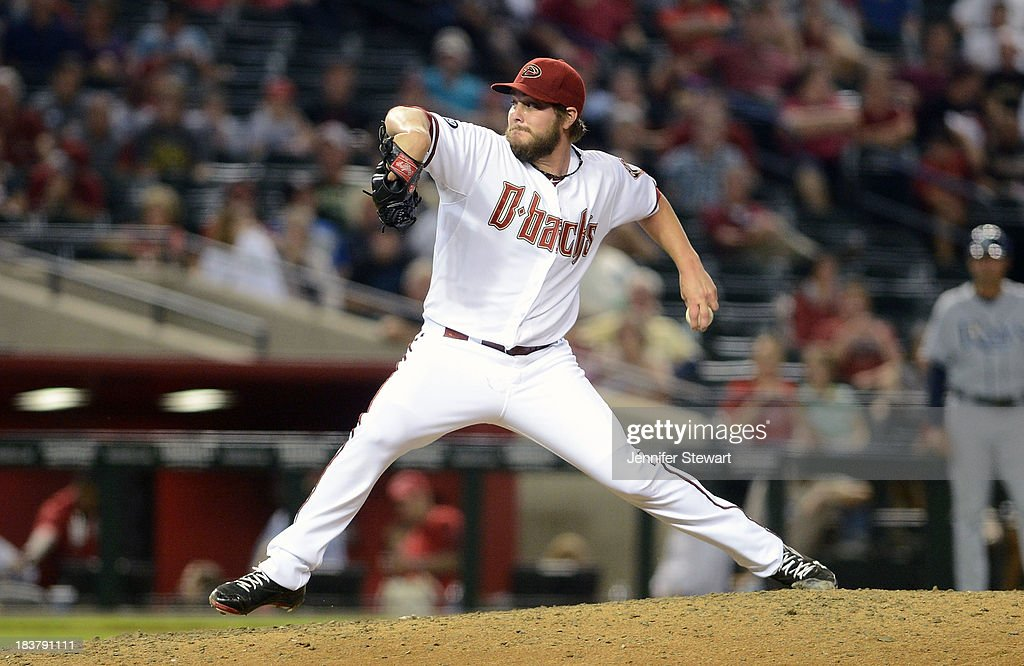 Wade Miley #36 of the Arizona Diamondbacks pitches against the Tampa Bay Rays in the fifth inning at Chase Field on August 6, 2013 in Phoenix, Arizona.