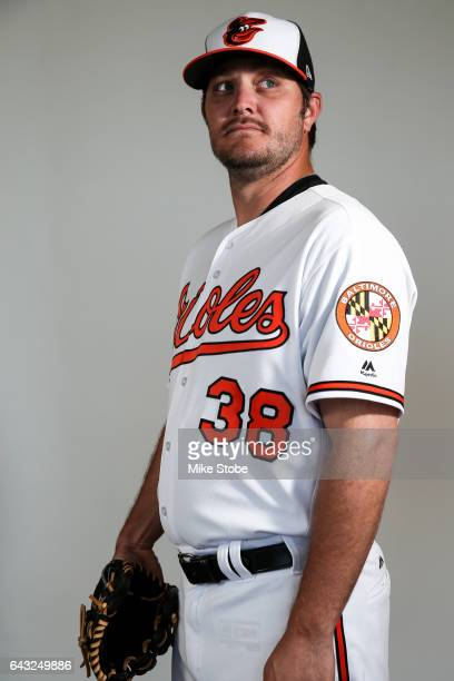 Wade Miley of the Baltimore Orioles poses for a portait during a MLB photo day at Ed Smith Stadium on February 20 2017 in Sarasota Florida
