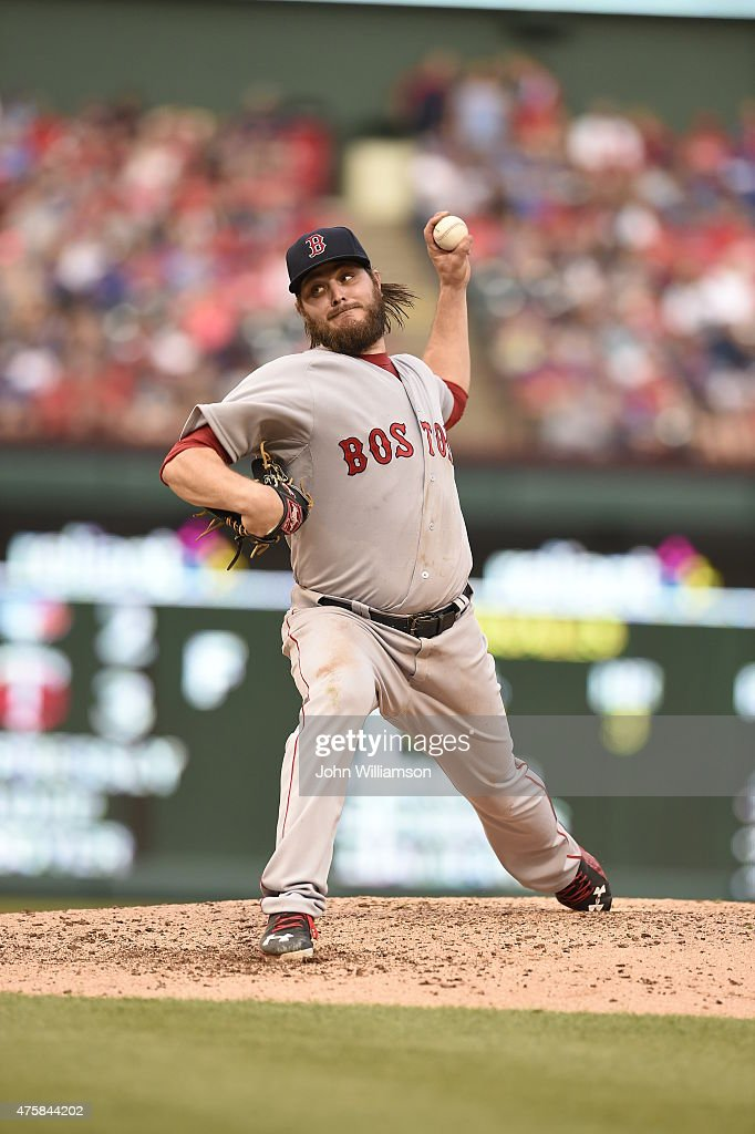 Wade Miley of the Boston Red Sox pitches against the Texas Rangers at Globe Life Park in Arlington on May 30 2015 in Arlington Texas The Texas...