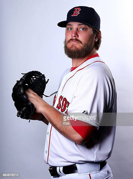 Wade Miley of the Boston Red Sox poses for a portrait on March 1 2015 at JetBlue Park in Fort Myers Florida