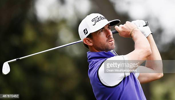 Wade Ormsby of Australia hits his second shot on the 9th hole during Day 3 of the KLM Open held at Kennemer G CC on September 12 2015 in Zandvoort...