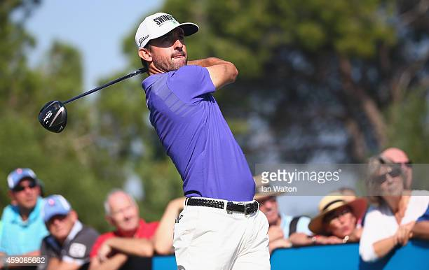 Wade Ormsby of Australia in action during the final round of the 2014 Turkish Airlines Open at The Montgomerie Maxx Royal on November 16 2014 in...