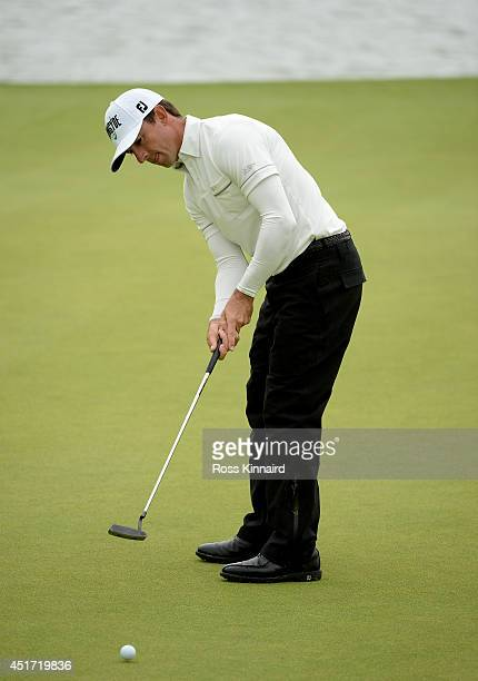 Wade Ormsby of Australia in action during the third round of the Alstom Open de France at Le Golf National on July 5 2014 in Paris France