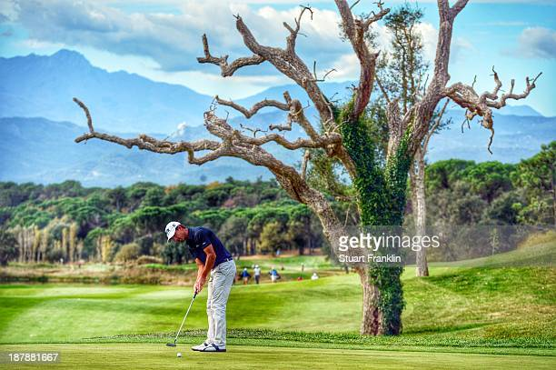 Wade Ormsby of Australia in actionduring the fourth round at PGA Catalunya Resort on November 13 2013 in Girona Spain