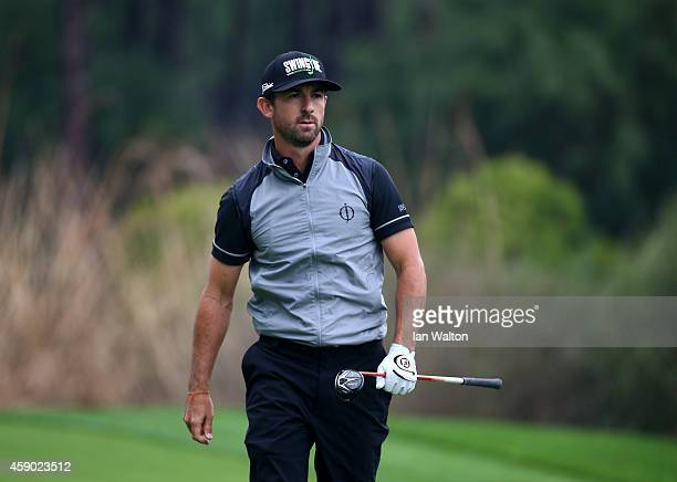 Wade Ormsby of Australia looks on during the third round of the 2014 Turkish Airlines Open at The Montgomerie Maxx Royal on November 15 2014 in...