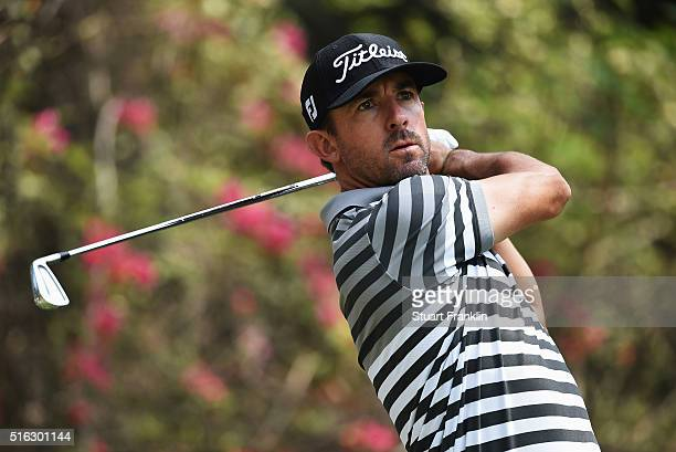 Wade Ormsby of Australia plays a shot during the second round of the Hero Indian Open at Delhi Golf Club on March 18 2016 in New Delhi India